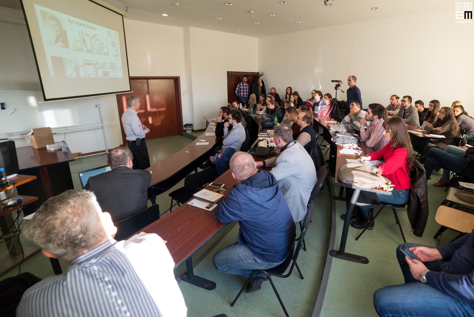 Fotografie conferință Yaron Brook ASE