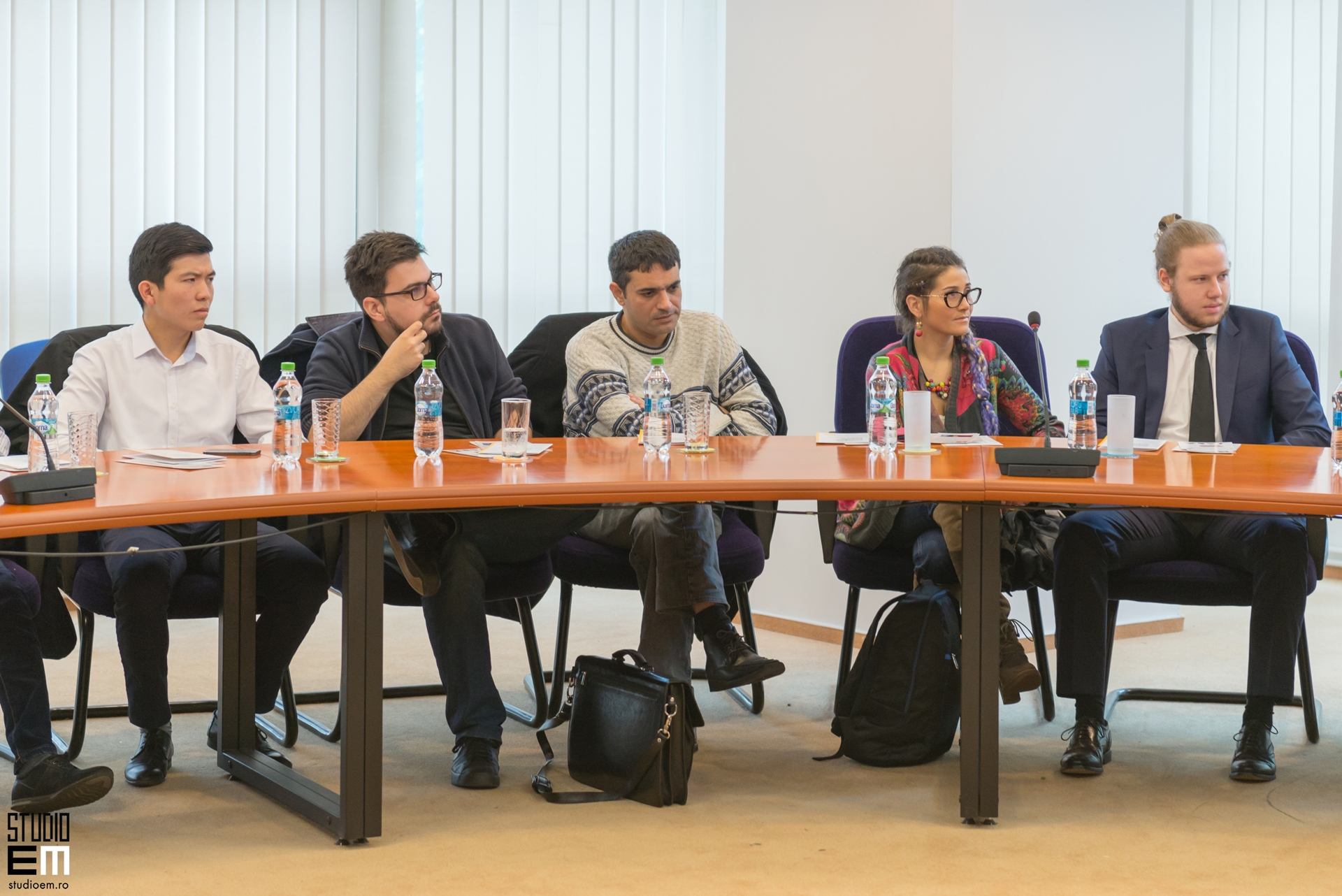 Fotografie conferință Yaron Brook